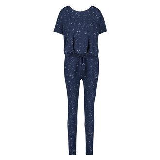 Loose Fit pyjamastop med korte ærmer, blå