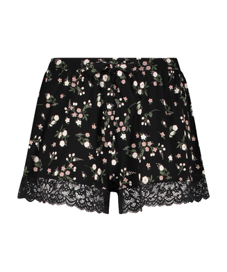 Ditzy Flower shorts, sort