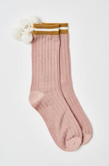 Hunkemöller Cosy socks Lurex pink