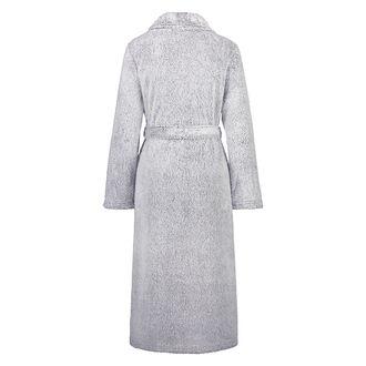 Fleece lang badekåbe, Grå