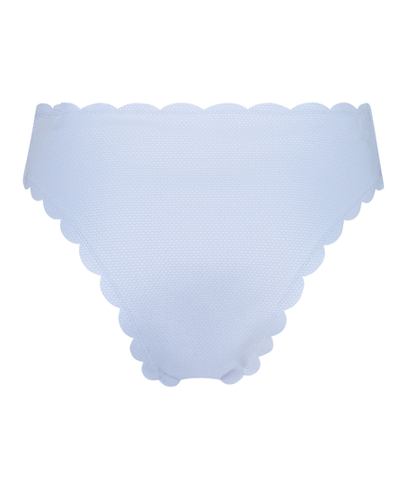 Scallop bikinitrusse med høje ben, blå