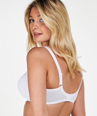 Nina ikke-formstøbt minimizer-bøjle-bh, hvid