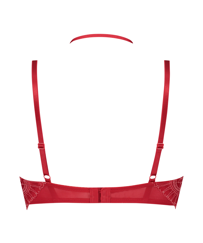 Formstøbt longline-bøjle-bh Coco, rød, main