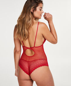 Geo Lace body, rød