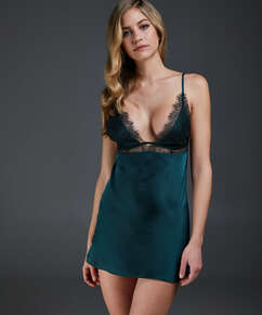 Natkjole Satin Holly, grøn