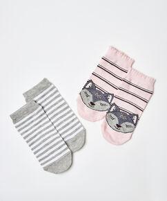 2 Par Sokker, pink