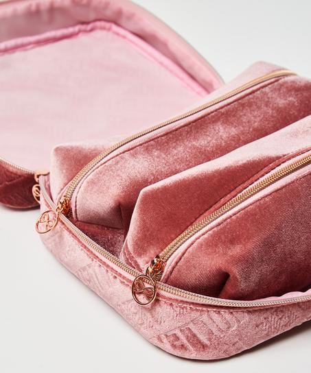 Make-up-taske med prægning, grøn