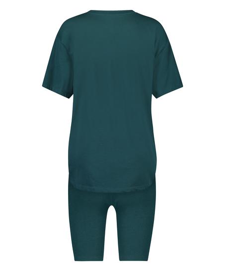 Kort pyjamassæt Biker, blå