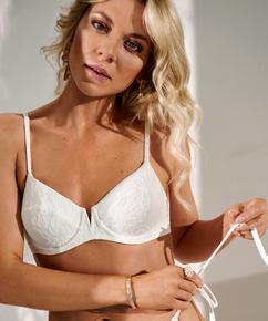 Ikke-formstøbt bikinitop med bøjle Libby, hvid