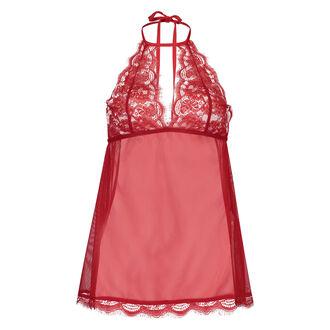 Lace babydoll, rød
