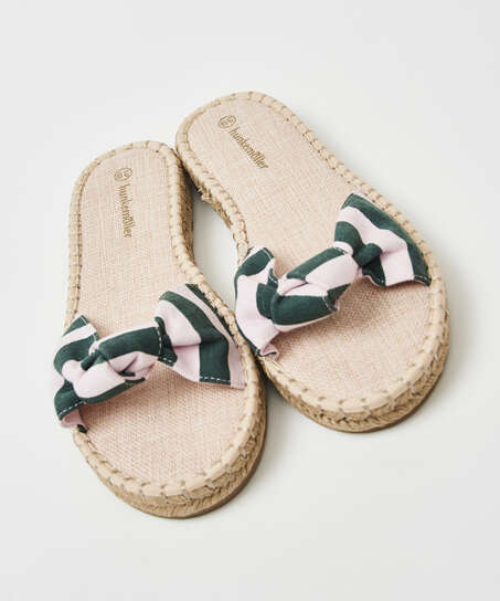 Sandaler printed knot, grøn