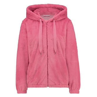 Fleece Fake Fur trøje, pink
