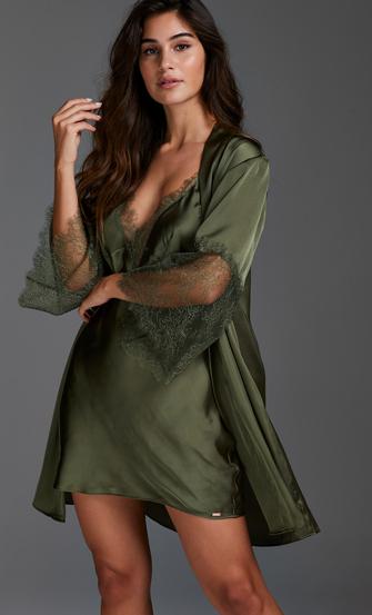 Kimono Satin Lily, grøn