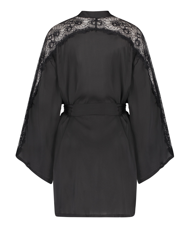 Kimono Satin Lace, sort, main