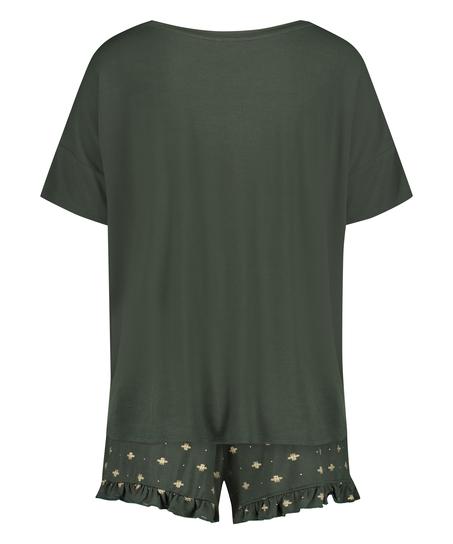 Kort pyjamassæt, grøn