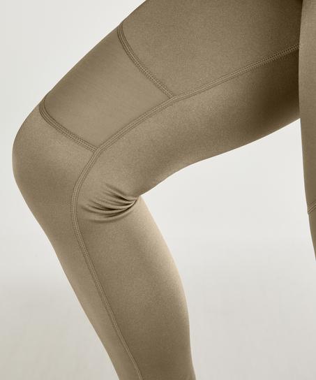 HKMX High Waisted Sport Legging Shine, grøn