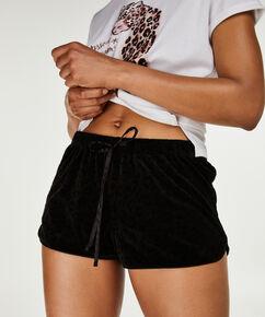 Velour shorts, sort