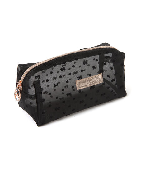Dot Mesh makeuptaske, sort
