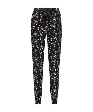 Petite pyjamasbukser Ditzy Floral, sort