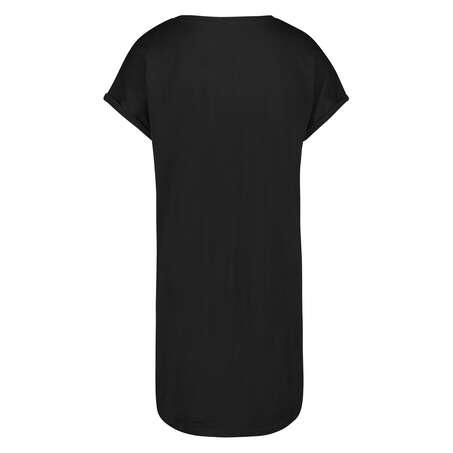 Natskjorte rund hals, sort