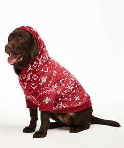 Fleece hunde-onesie, rød