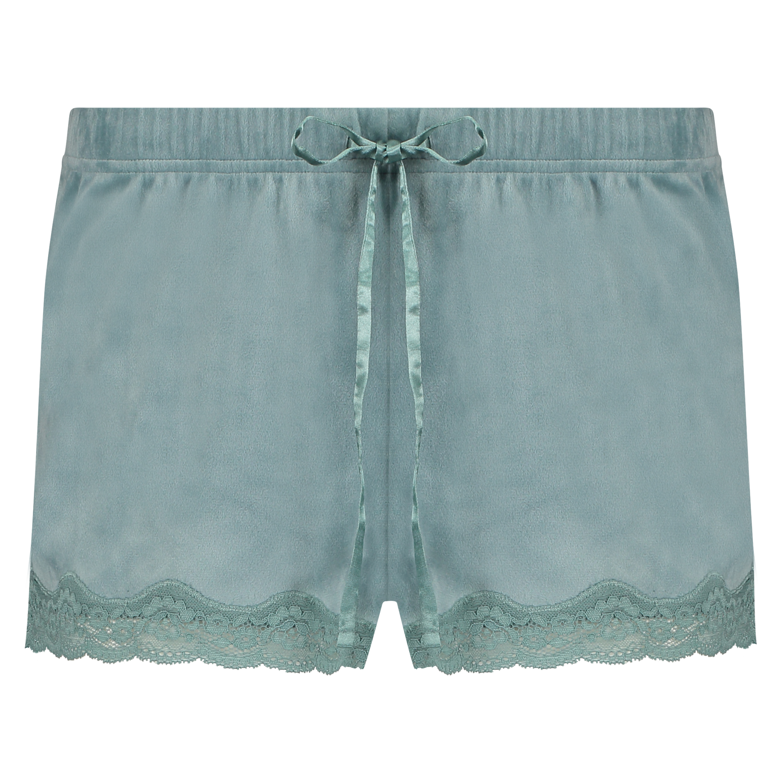 Shorts velour Lace, grøn, main