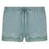 Shorts velour Lace, grøn