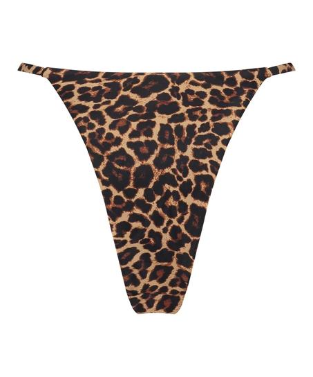 Højtudskåret bikini-g-streng Animal HKM x NA-KD, Brown