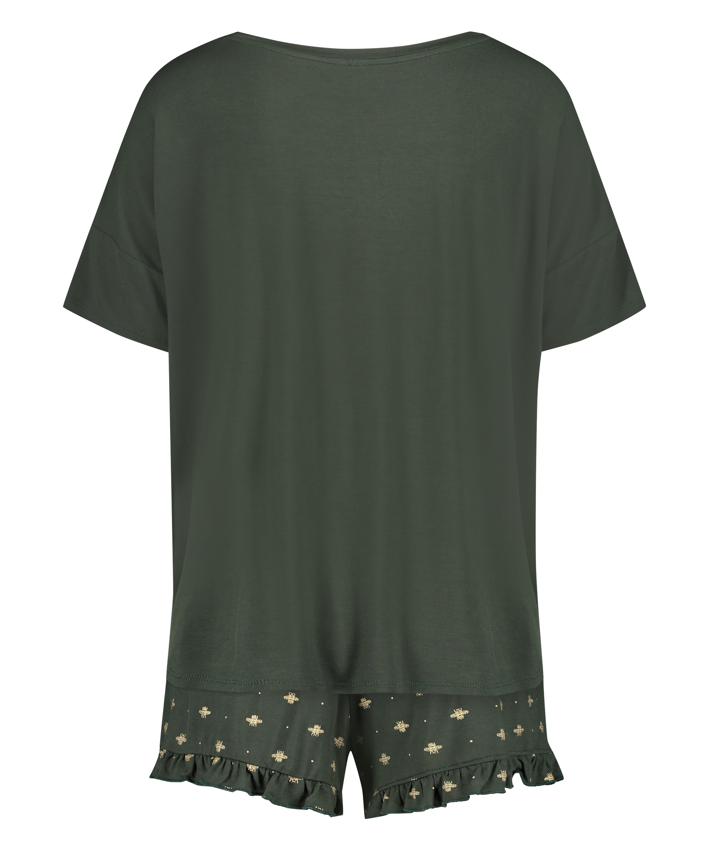 Kort pyjamassæt, grøn, main