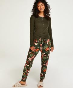 Petite Jersey pyjamasbukser, grøn