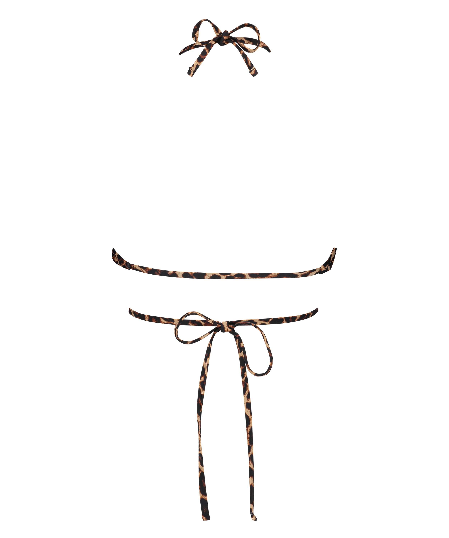 Polstret trekantbikinitop Animal Wrap HKM x NA-KD, Brown, main
