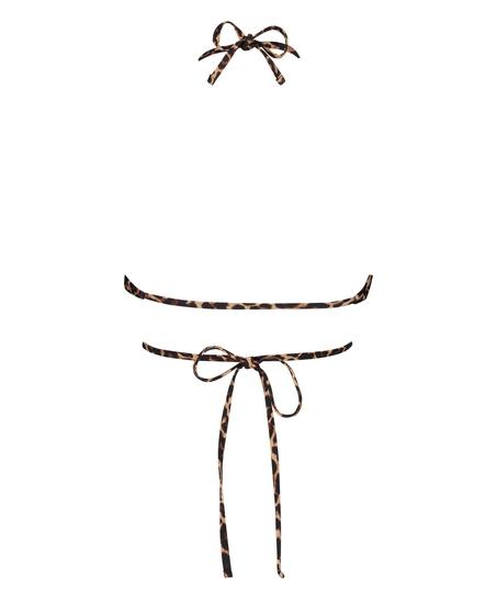 Polstret trekantbikinitop Animal Wrap HKM x NA-KD, Brown