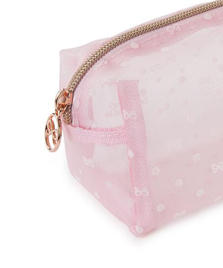 Dot Mesh makeuptaske, pink