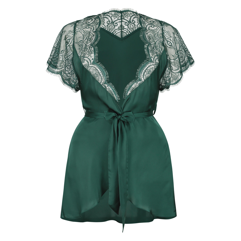 Cap Sleeve kimono, grøn, main