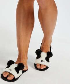Hjemmesko Panda, sort