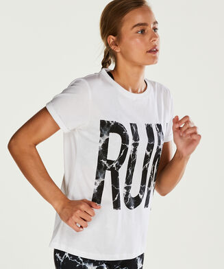 HKMX Sportshirt med korte ærmer, hvid
