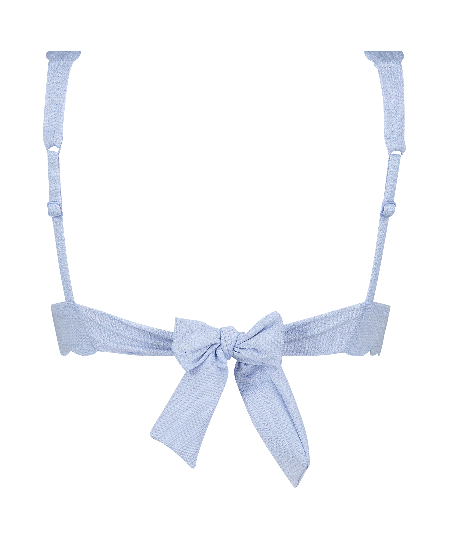 Triangle bikinitop Scallop , blå, main