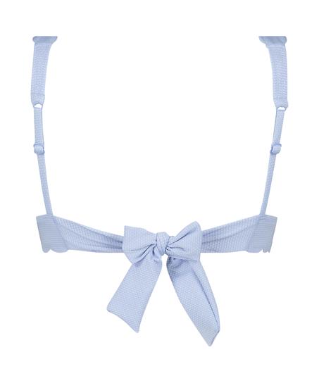 Triangle bikinitop Scallop , blå