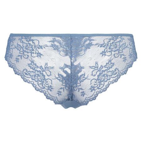 Lace Back usynlig brasiliansk trusse, blå