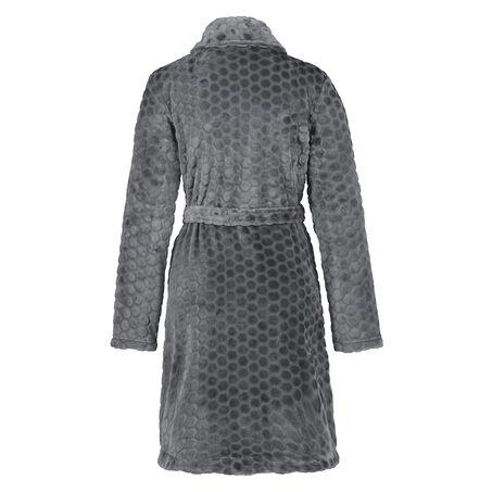 Zip Fleece Honeycomb badekåbe, Grå