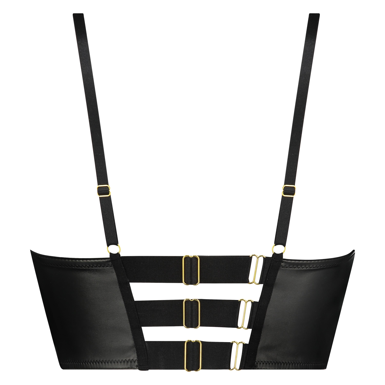 Talia formstøbt longline push-up-bøjle-bh, sort, main