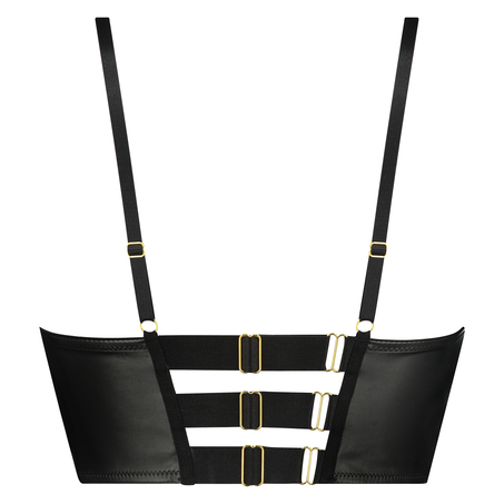 Talia formstøbt longline push-up-bøjle-bh, sort