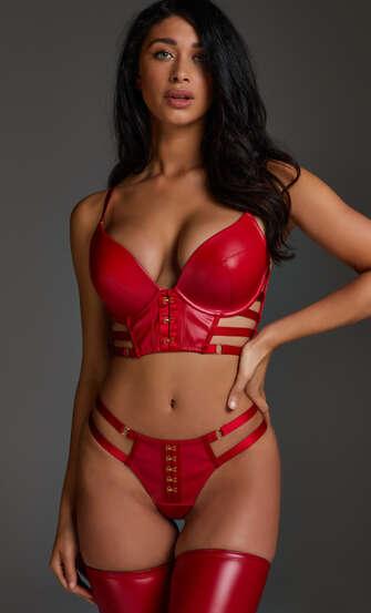 Formstøbt pushup-bøjle-bh Vicky, rød