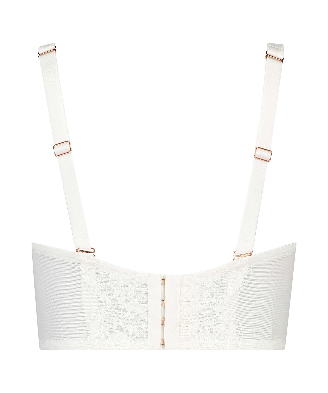 Formstøbt strapless longline-bøjle-bh Hannako, hvid, main