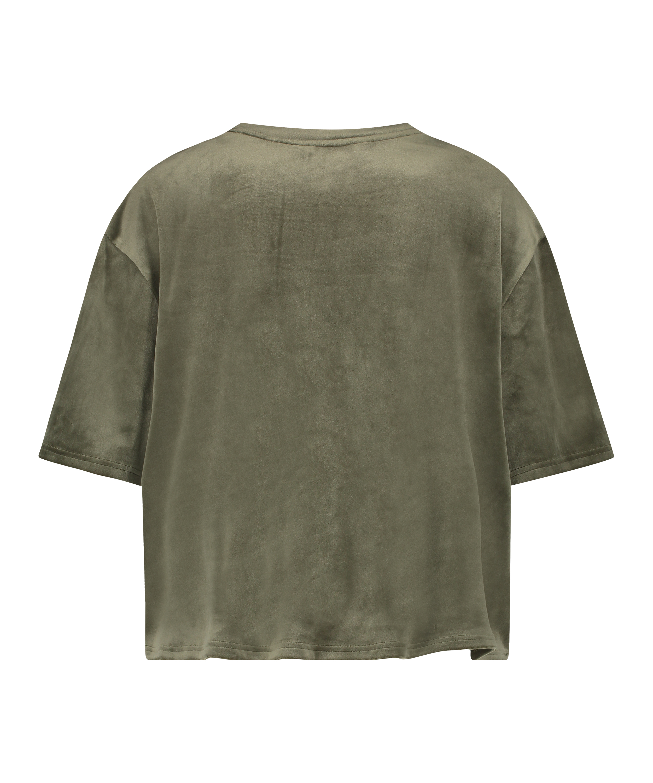 Top fløjl Pocket, grøn, main