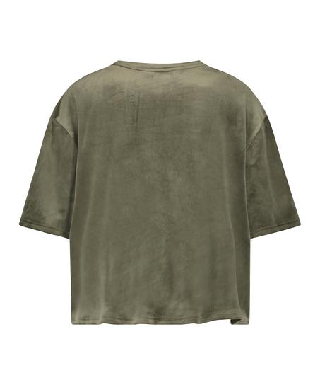 Top fløjl Pocket, grøn
