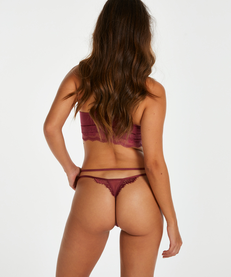 Odilla thong, rød
