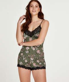Pyjamassæt Flower Words, grøn