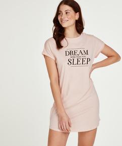 Natkjole korte ærmer Dream, pink