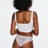Lace Back usynlig brasiliansk trusse, hvid